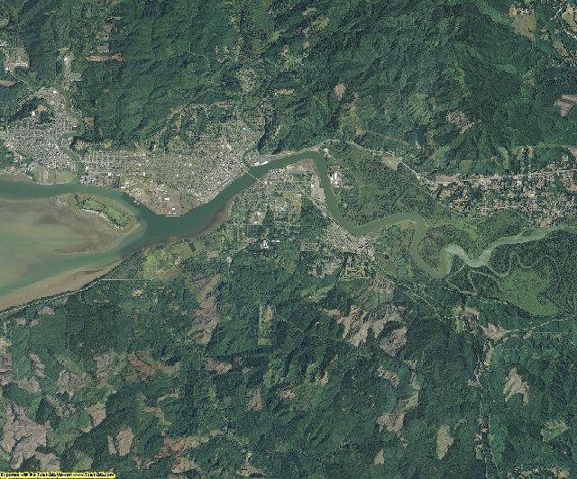 Grays Harbor County, Washington aerial photography