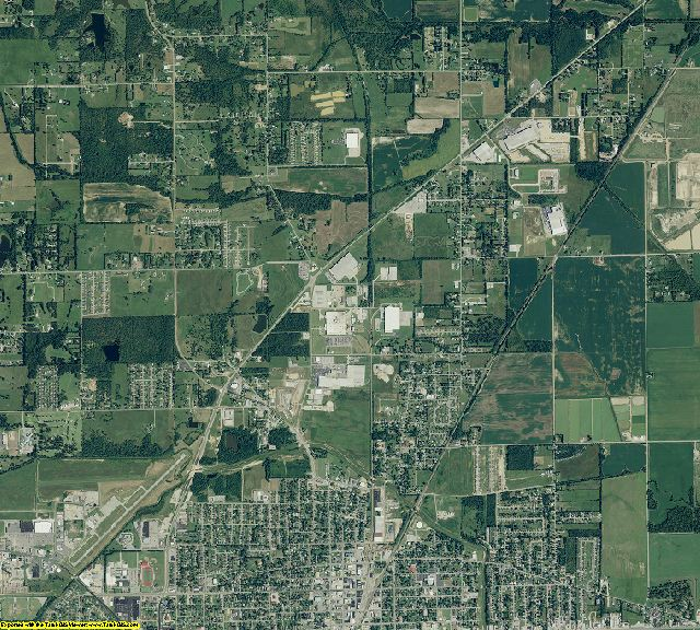 Greene County, Arkansas aerial photography