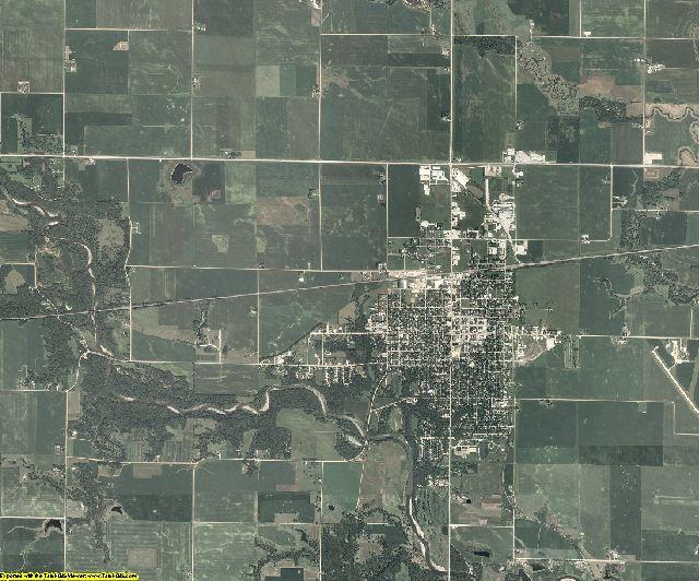 Greene County, Iowa aerial photography