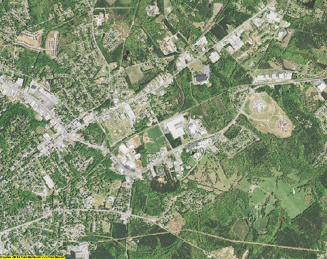 Greenwood County, South Carolina aerial photography