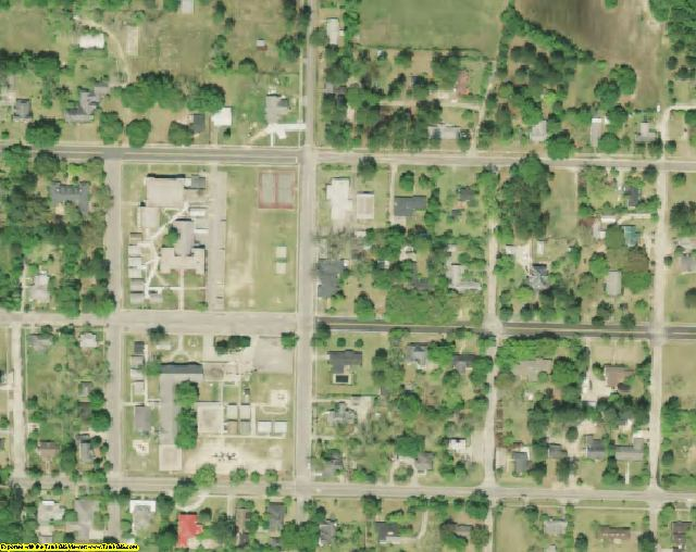 Hampton County, SC aerial photography detail