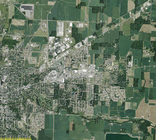Hancock County, Ohio aerial photography