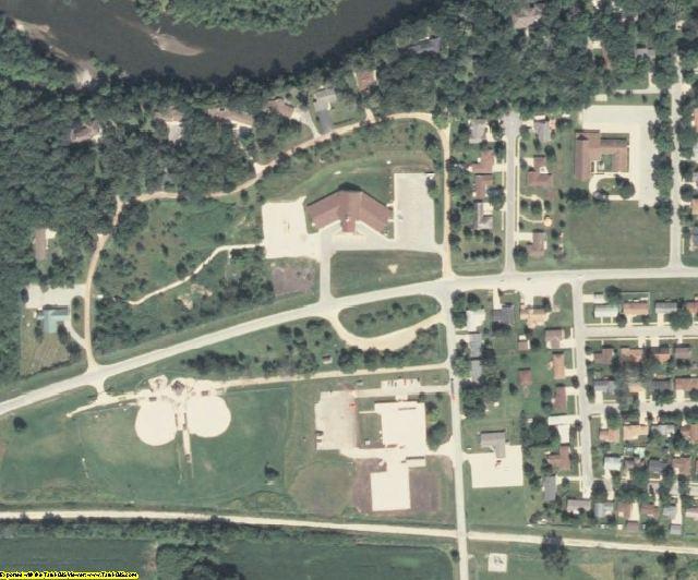 Hardin County, IA aerial photography detail