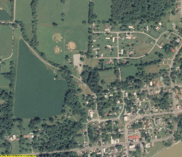 Hardin County, IL aerial photography detail