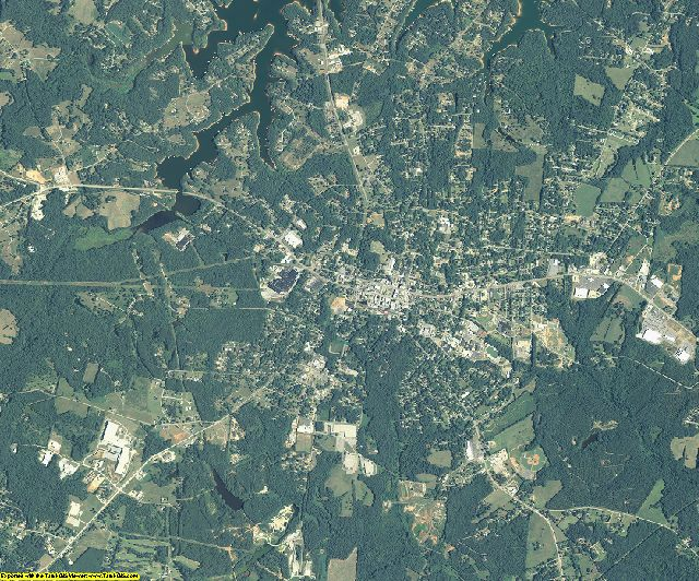 Hart County, Georgia aerial photography