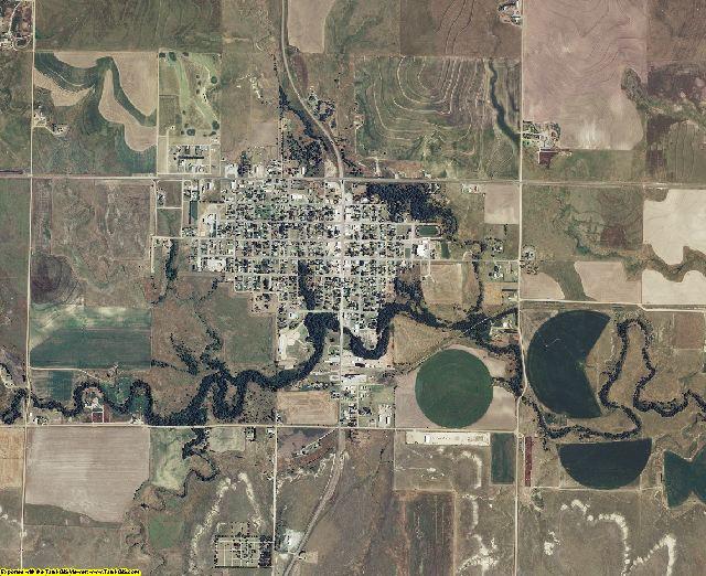 Hodgeman County, Kansas aerial photography