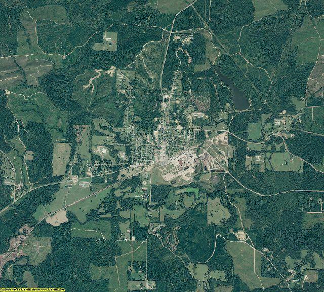 Howard County, Arkansas aerial photography