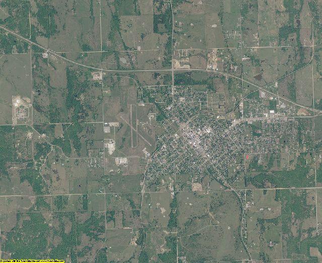 Hughes County, Oklahoma aerial photography