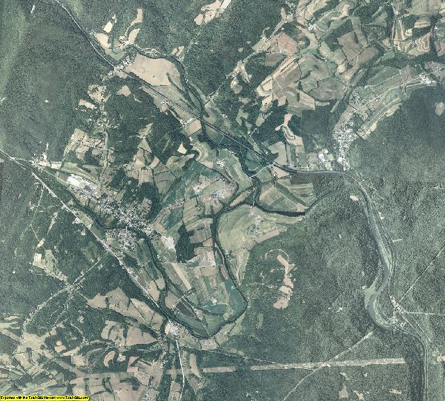 Huntingdon County, Pennsylvania aerial photography
