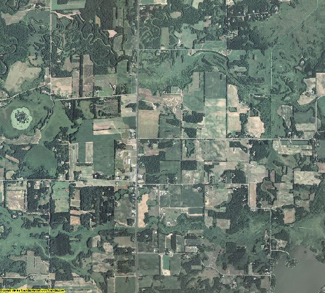 Isanti County, Minnesota aerial photography