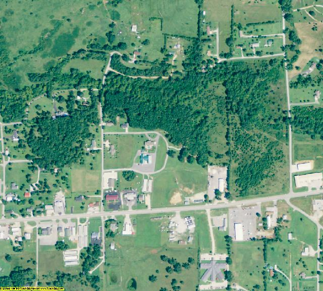 Izard County, AR aerial photography detail