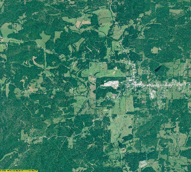 Izard County, Arkansas aerial photography