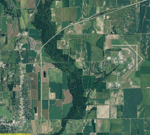 Jackson County, Arkansas aerial photography