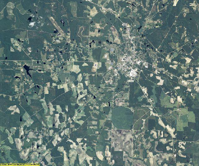 Jeff Davis County, Georgia aerial photography