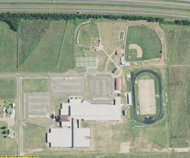 Jefferson Davis County, LA aerial photography detail