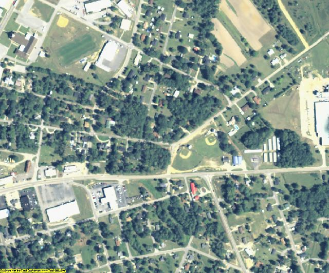 Jefferson County, GA aerial photography detail