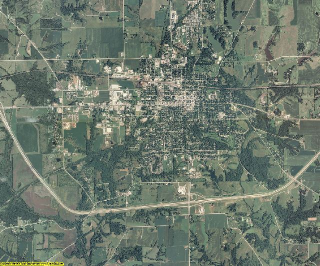 Jefferson County, Iowa aerial photography