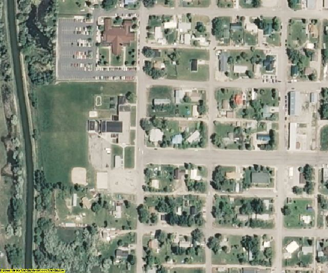 Jefferson County, ID aerial photography detail