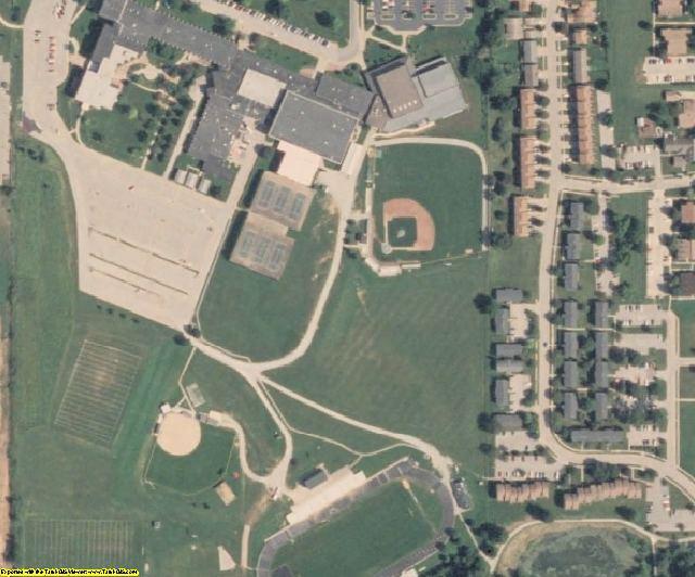 Johnson County, IA aerial photography detail