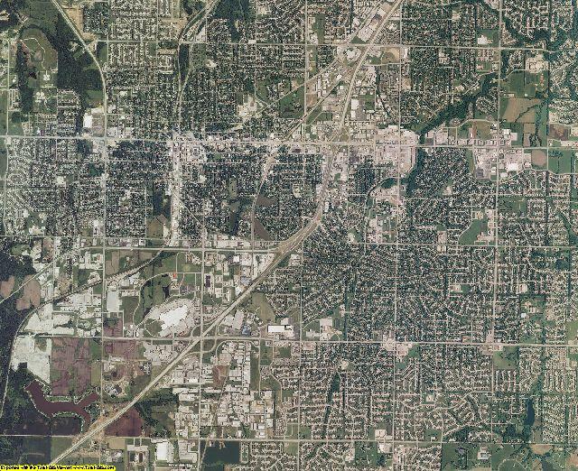 Johnson County, Kansas aerial photography