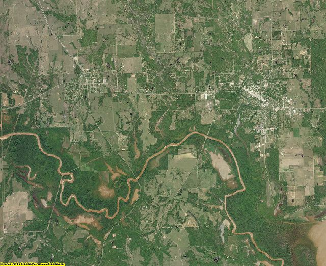 Johnston County, Oklahoma aerial photography