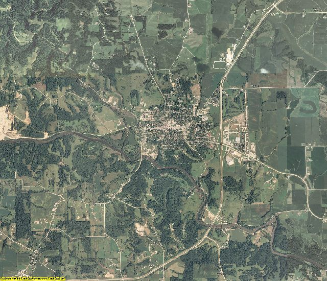 Jones County, Iowa aerial photography