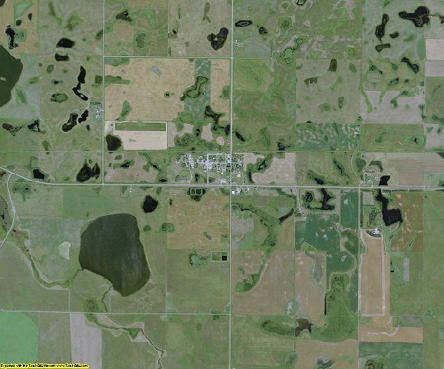 Kidder County, North Dakota aerial photography