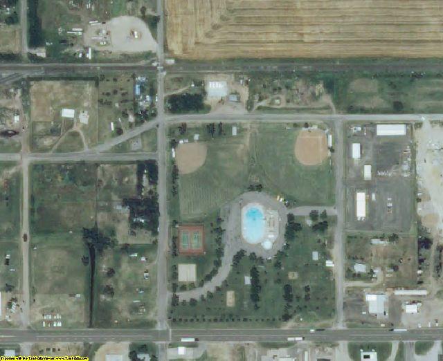 Kiowa County, KS aerial photography detail