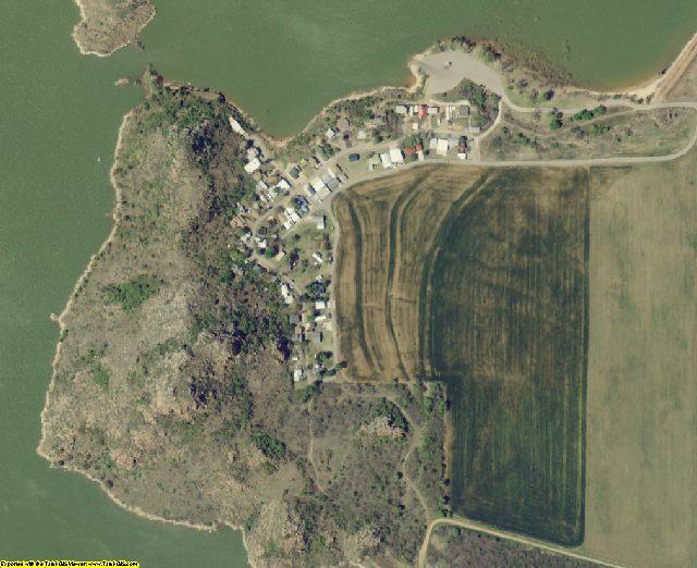 Kiowa County, OK aerial photography detail