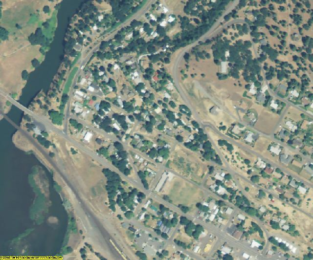 Klickitat County, WA aerial photography detail