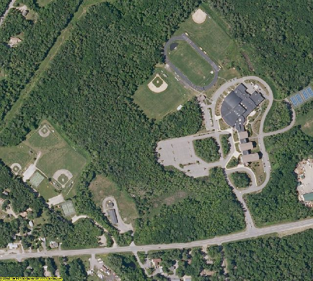 Knox County, ME aerial photography detail