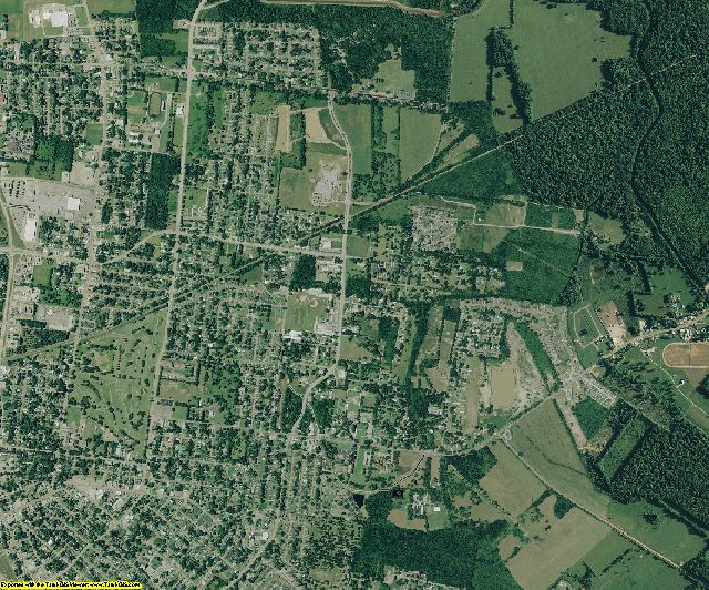 Lafayette County, Louisiana aerial photography