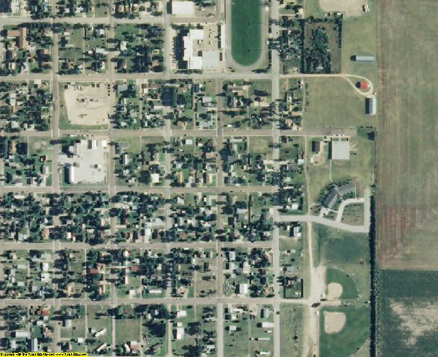 Lane County, KS aerial photography detail