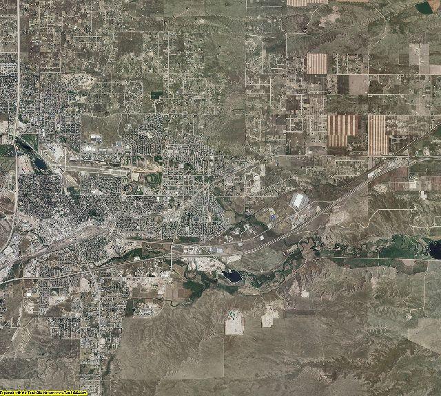Laramie County, Wyoming aerial photography