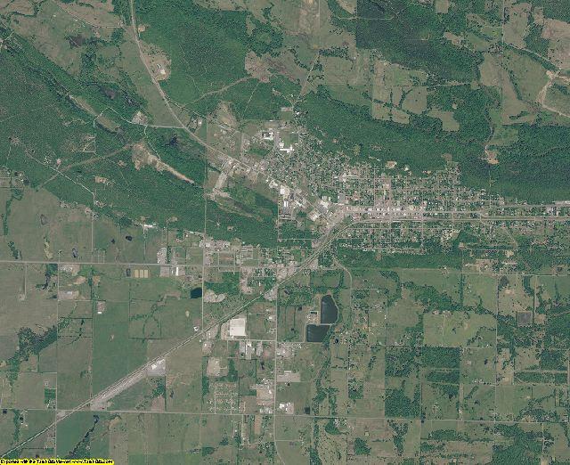 Latimer County, Oklahoma aerial photography