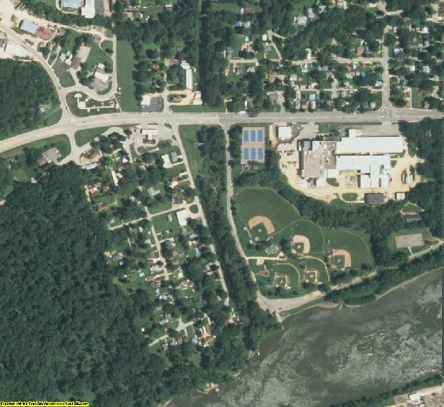 Lee County, IL aerial photography detail