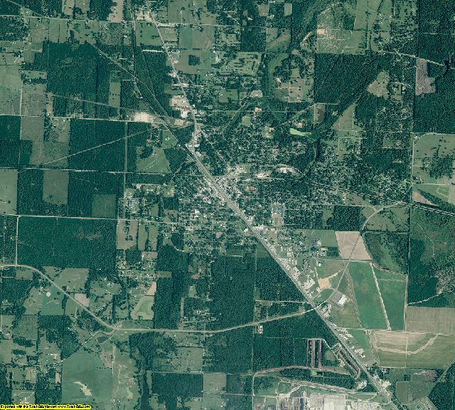 Little River County, Arkansas aerial photography