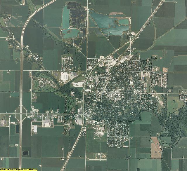 Livingston County, Illinois aerial photography