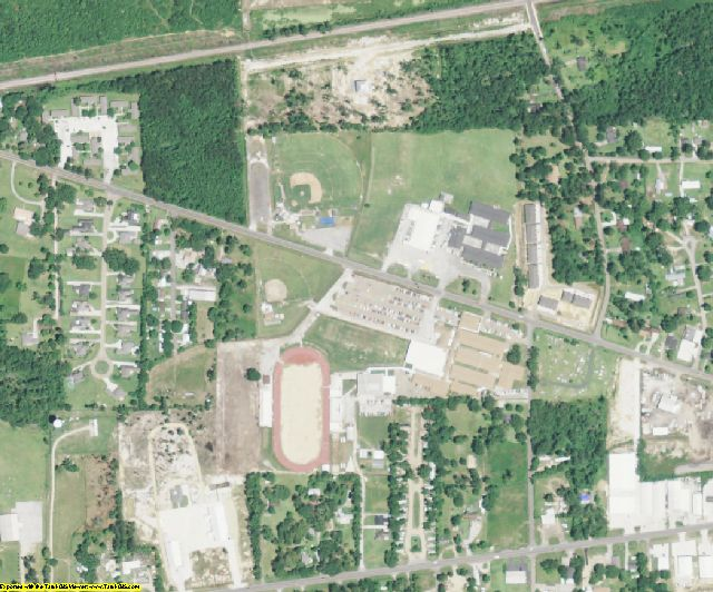 Livingston County, LA aerial photography detail