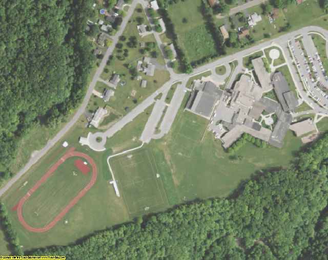 Livingston County, NY aerial photography detail