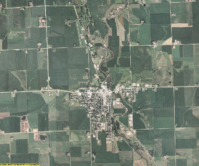 Lyon County, Iowa aerial photography