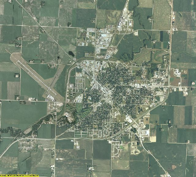 Lyon County, Minnesota aerial photography