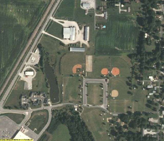 Macoupin County, IL aerial photography detail