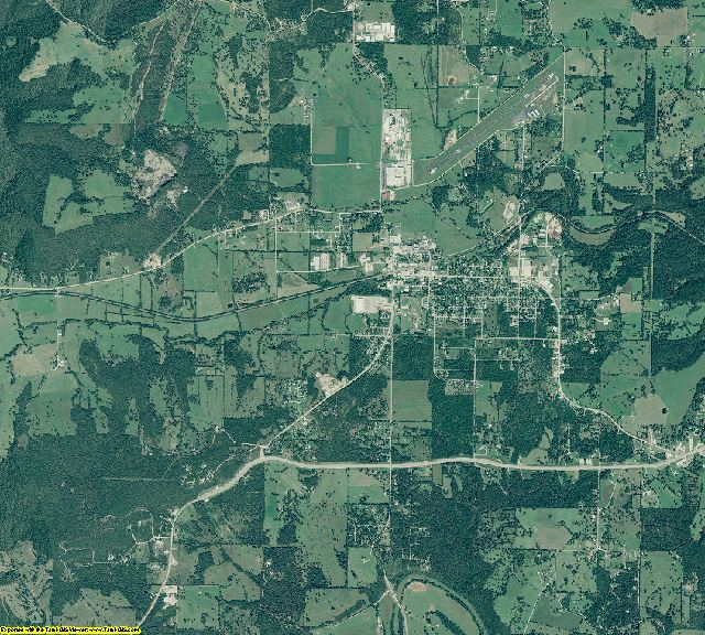 Marion County, Arkansas aerial photography