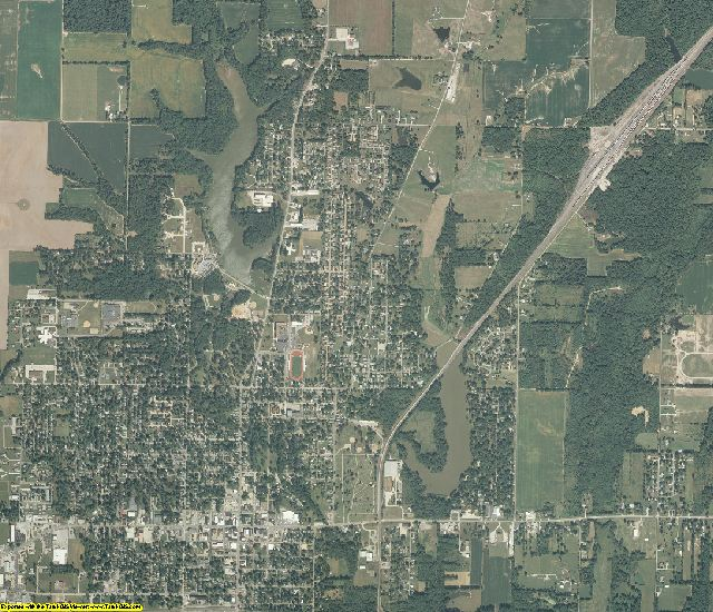 Marion County, Illinois aerial photography