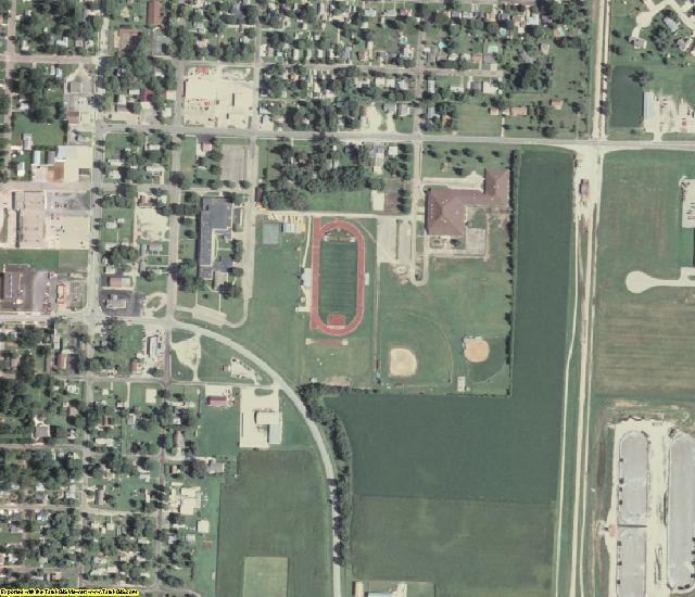 Mason County, IL aerial photography detail