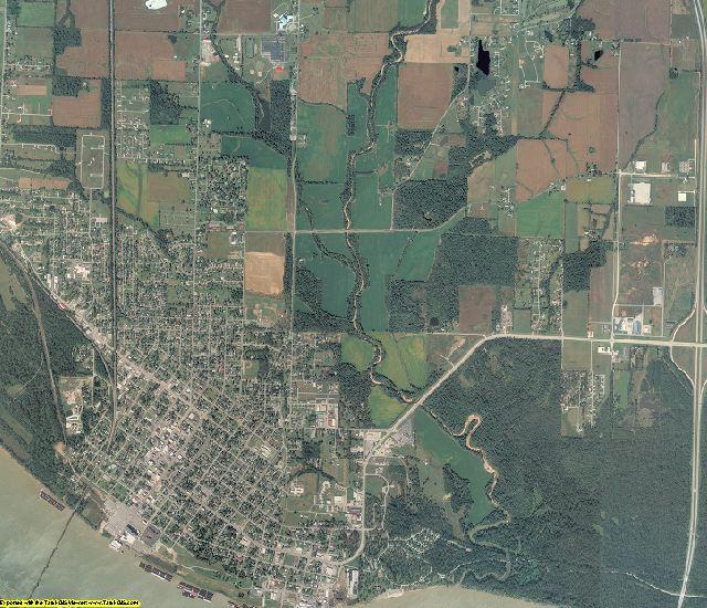 Massac County, Illinois aerial photography