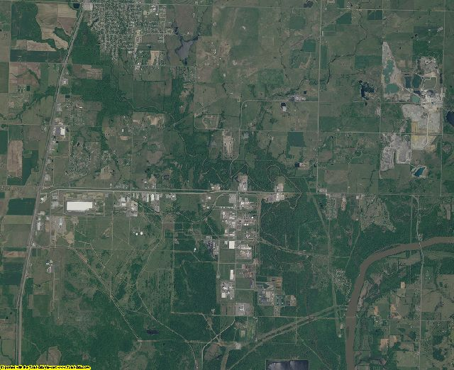 Mayes County, Oklahoma aerial photography