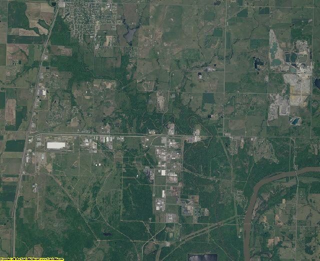 Mayes County, Oklahoma aerial photography