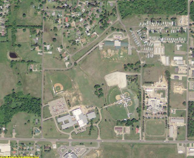 McCurtain County, OK aerial photography detail
